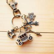 Charm Keychain, Romance Horse Carriage