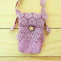 Lace bag, iPhone case, Purple