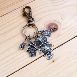 Charm Keychain, OWL Home sweet home